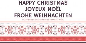 Happy ChristmasJoyeux NoëlFrohe Weihnachten